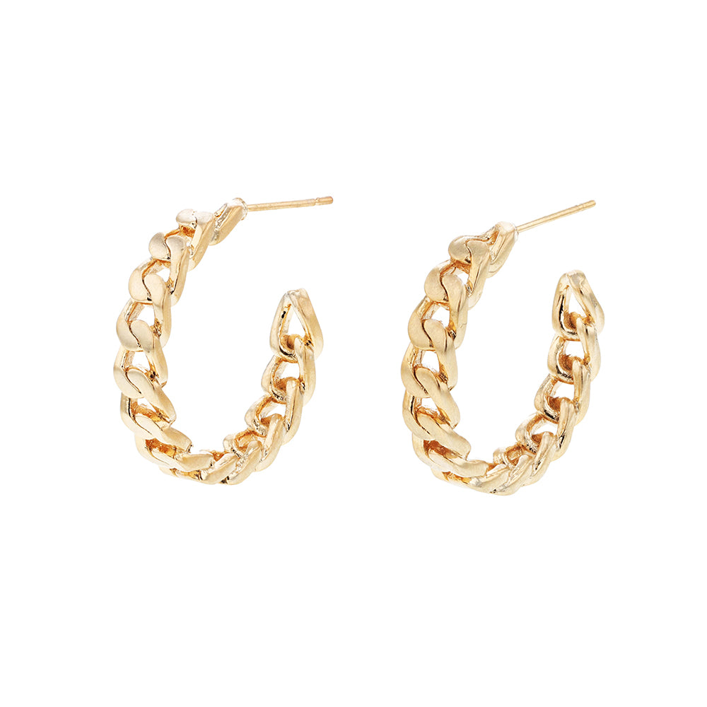 Vicky Chain Hoops Earrings