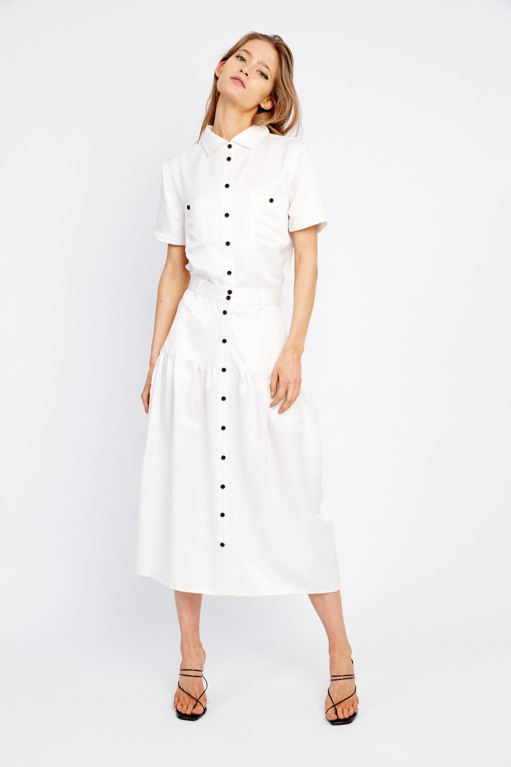 Third Form Vice Versa Midi Skirt - Off White