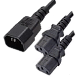 IEC to IEC 2 Way Splitter