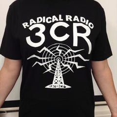 Radical Radio Tshirt - Black or White Logo - Loose Fit -  100% Cotton