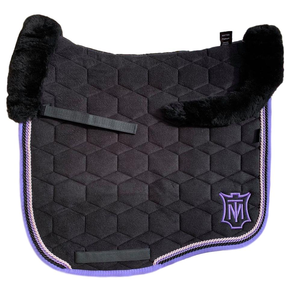 E.A Mattes Instock - L Size/Top Fleece - Black Velvet & Purple