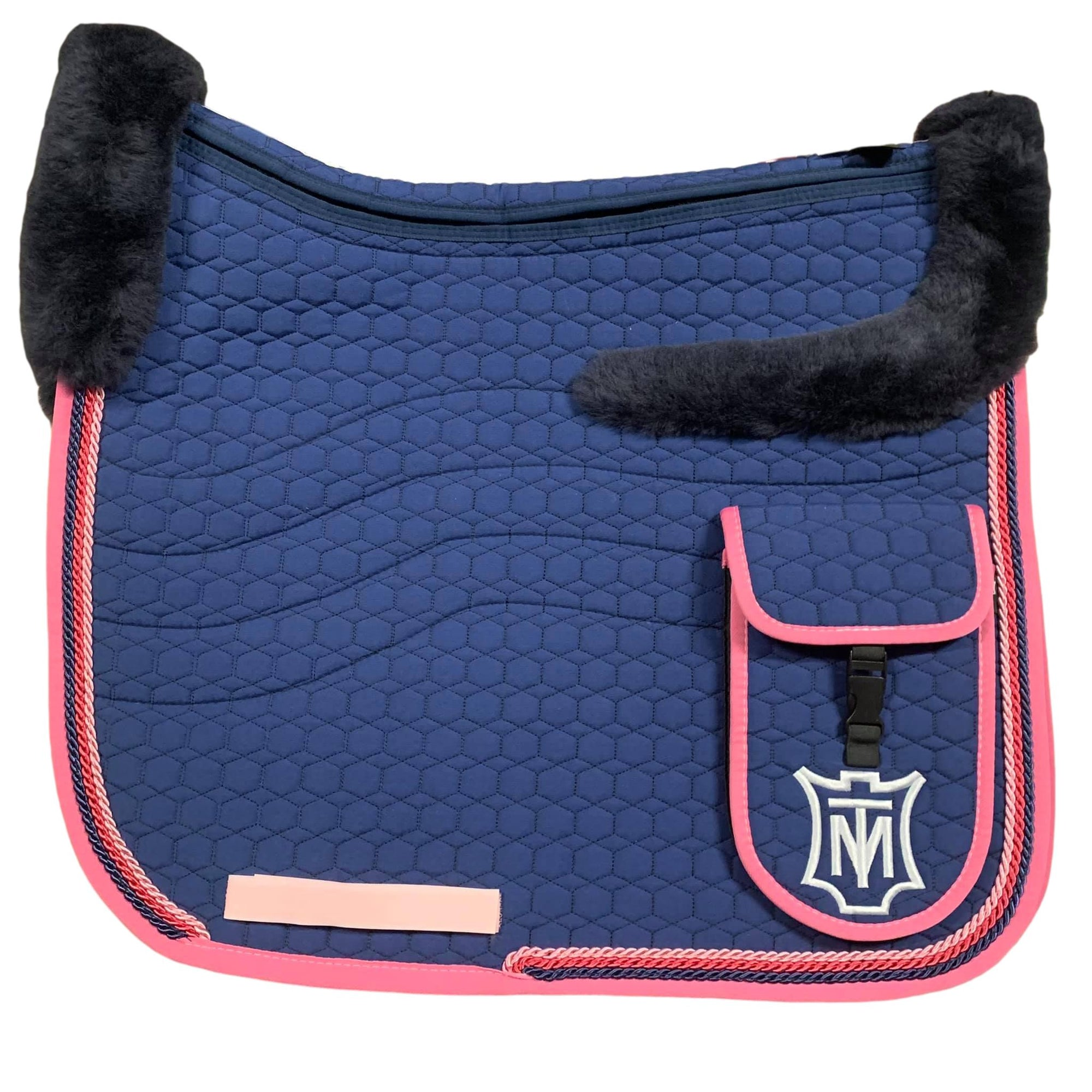 E.A Mattes Instock - XL  Top fleece Trekking/Dressage - Navy/Rose + Correctional
