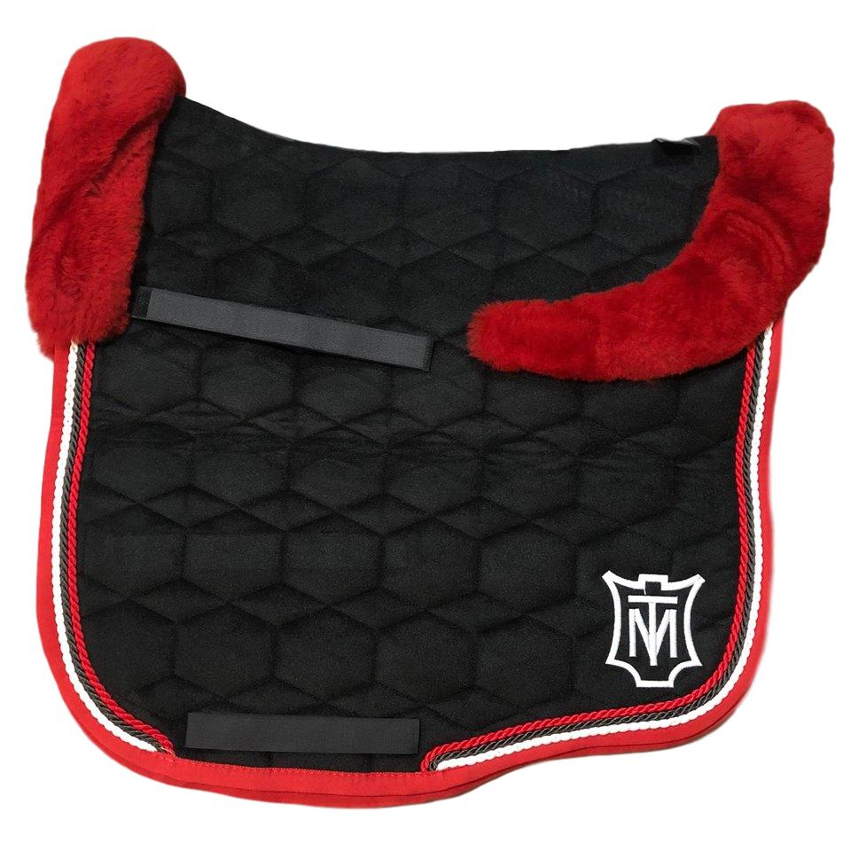 E.A Mattes Instock - M Size/Top Fleece - Black Velvet & Red - Hufglocken