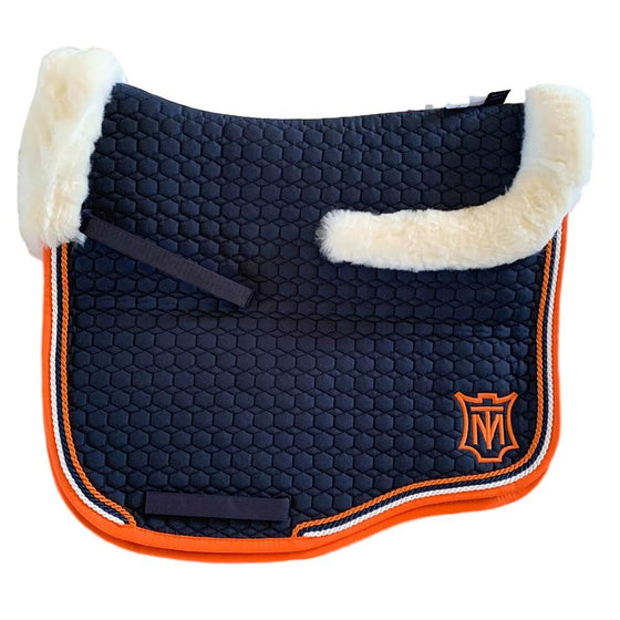 E.A Mattes Instock - XL Size/Top Fleece - Navy & Orange/White - Hufglocken