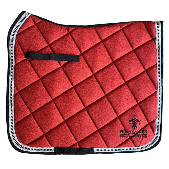 Diamant Red Saddle Pad - Hufglocken