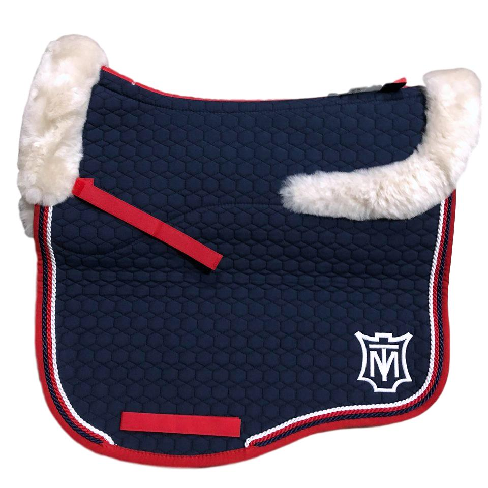 E.A Mattes Instock - M Size/Top Fleece - Navy & Red with Linen Fleece - Hufglocken