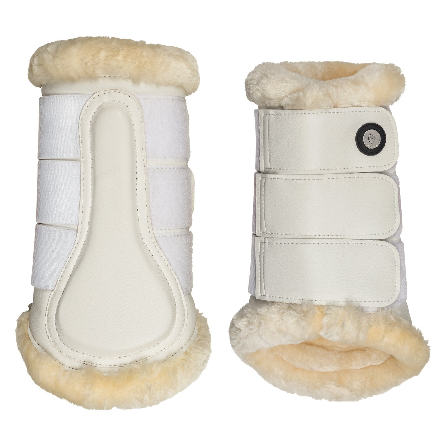 Cheval de Luxe White Tendon Boots