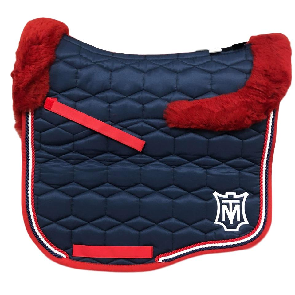 E.A Mattes - S Size/Full Fleece - Navy Sheen & Red