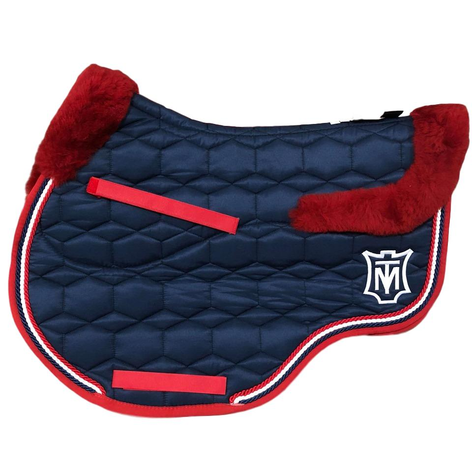E.A Mattes Instock - M Size/Full Fleece JUMP - Navy Sheen & Red