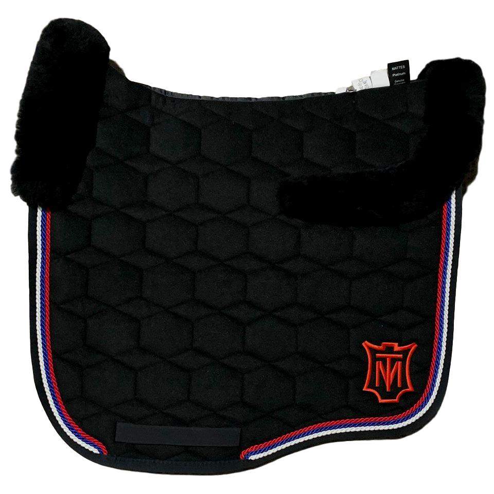 E.A Mattes Instock - L Size/Top Fleece - Black Velvet & Red/White/Royal