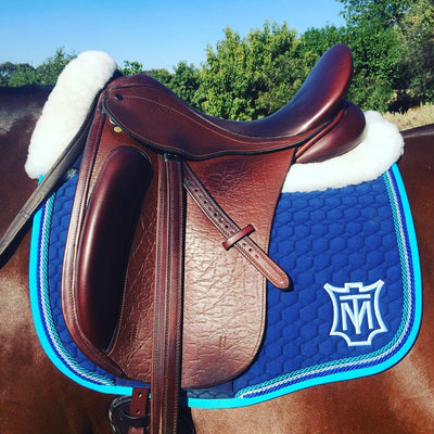 E.A Mattes Custom Dressage Saddle Pad - Hufglocken