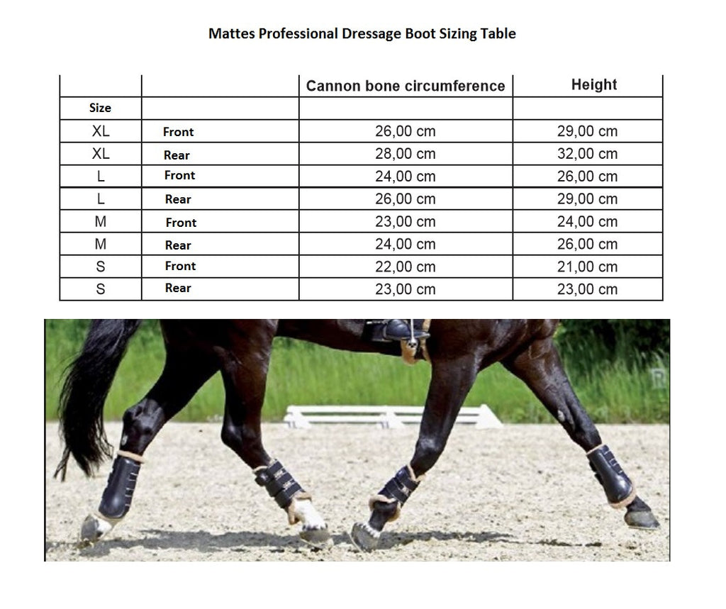 Mattes Professional Dressage Boots - Spare Liners - Hufglocken