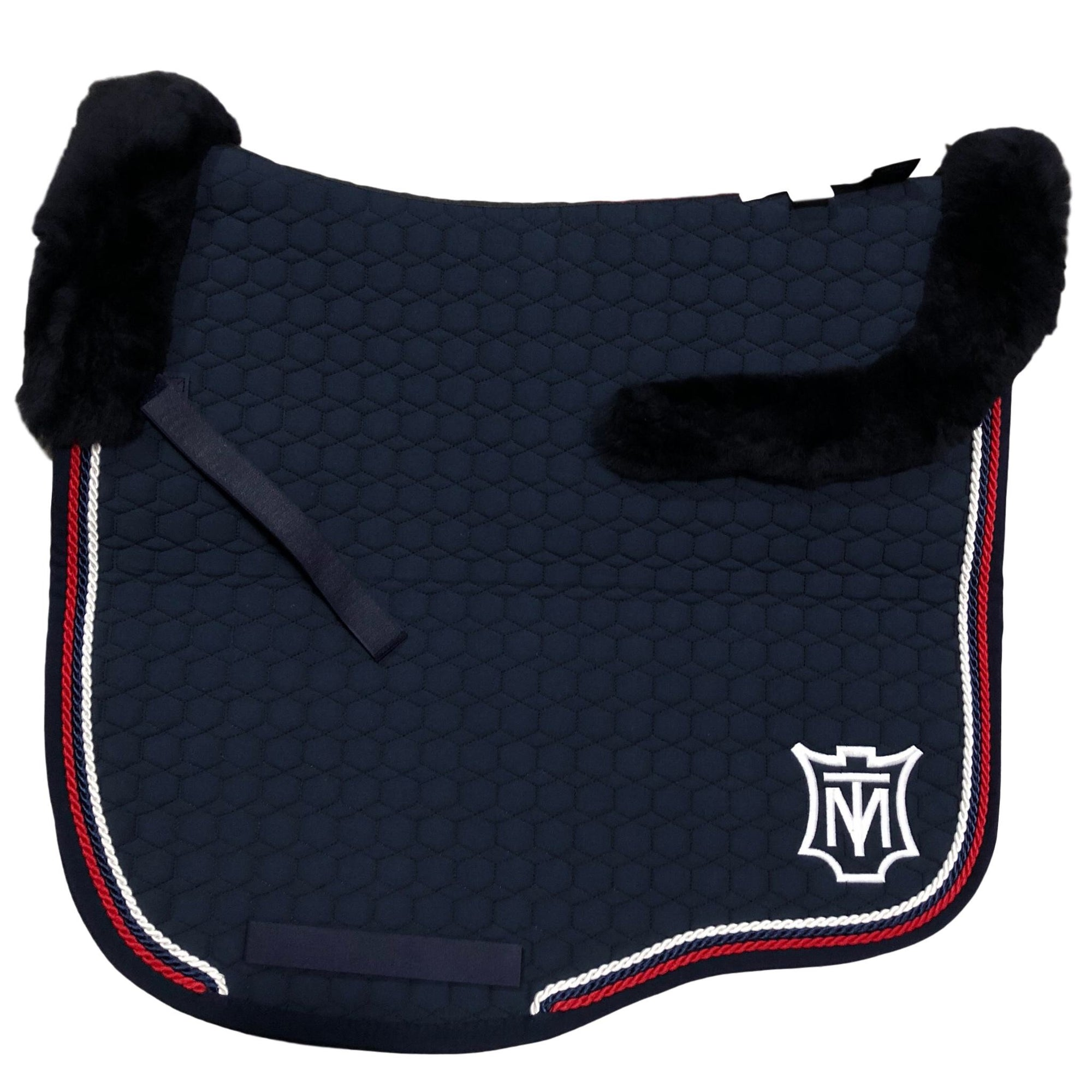 E.A Mattes Instock - L Size/Top Fleece - Navy, Red & White - Hufglocken