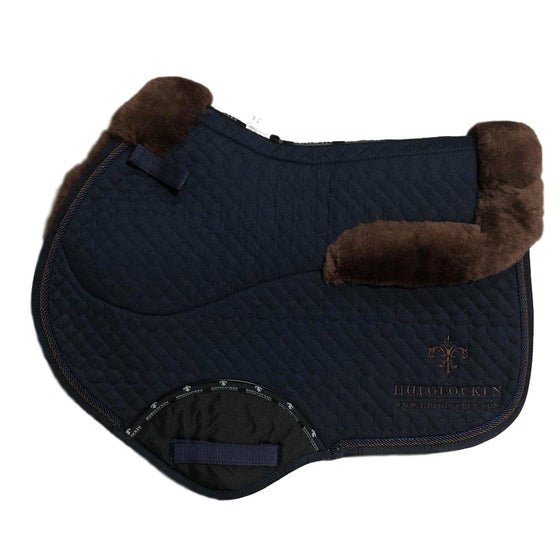 Stadium Saddle Pad - Navy & Chocolate - Hufglocken
