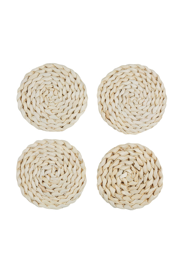 Husk Round Coaster - Set 4