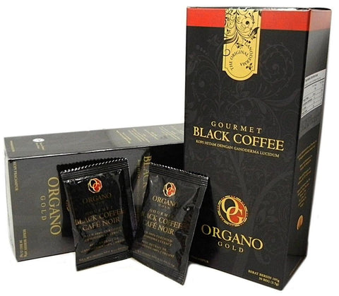 ORGANO GOLD GOURMET BLACK COFFEE 100% Certified GANODERMA - 3 SACHETS