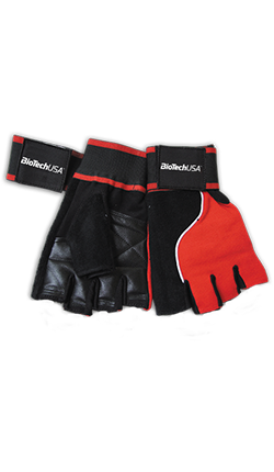 MEMPHIS 1 WRISTBAND GLOVES (RED/BLACK)