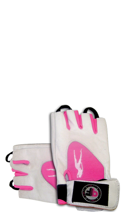 PINK FIT GLOVES (WHITE-PINK)
