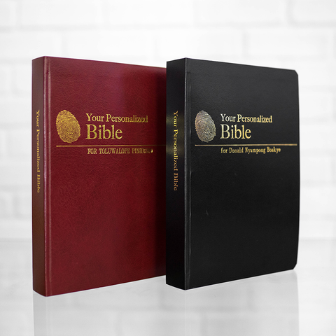 2 Personalized Complete Bibles (Large Print)