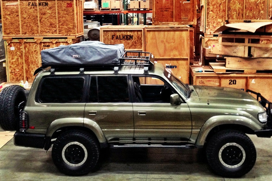 Toyota Land Cruiser Expedition Rack for Rooftop Tents (80 Series) & Toyota Land Cruiser Expedition Rack for Rooftop Tents (80 Series ...