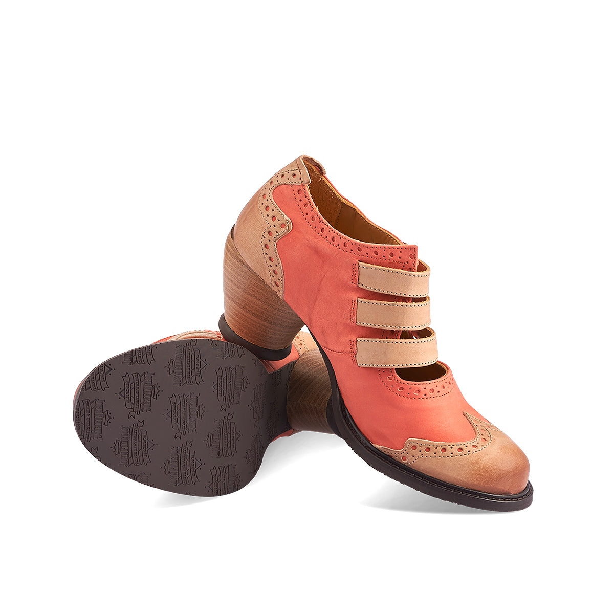 Inspired by vintage Fluevogs, Kitchener is a beautiful and unique heel with three fine straps for the perfect fit. This versatile shoe features custom brogue details, antiqued buckles and the super-friendly East End heel that will keep your feet happy all day long.
