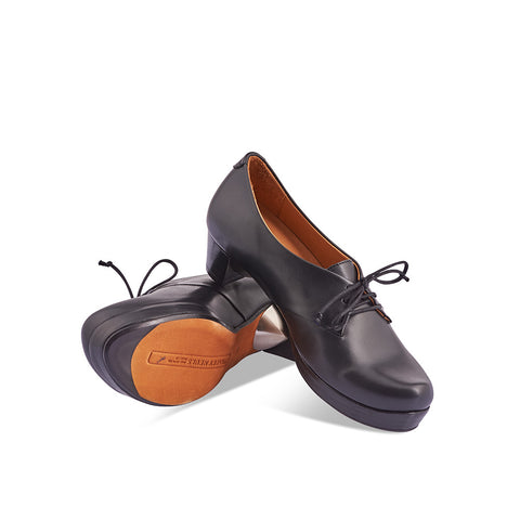 A fresh silhouette from London designer Tracey Neuls, the handcrafted Gery features an exquisite calf leather upper, leather sole and comfy mid heel with silver orb detail. The shapely toe is based on the iconic Denis and the subtle platform ensures all-day comfort without sacrificing style.