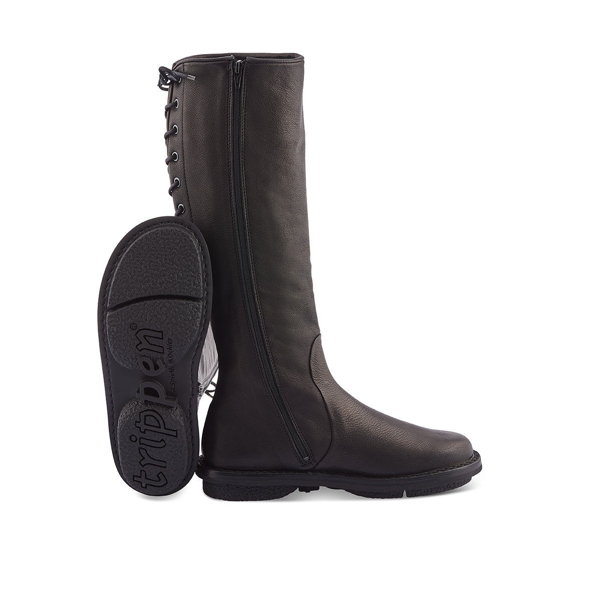 Medea - our most popular boot from last winter - returns to soleDevotion in the most exquisite calf leather upper. This fully leather lined boot features an inner zip and rear lacing that allow for an excellent fit on different calf widths. The sturdy rubber sole provides amazing grip on any surface and the cork and leather insole ensures day-long comfort and support.