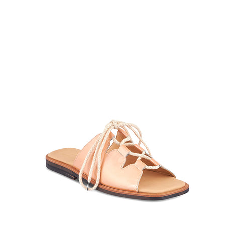 Produced by hand in Melbourne by our favourite local makers, this flat summer sandal by Post Sole Studio has everyday versatility and a comfy low profile. Lacing through leather upper ensures a secure fit on any foot and the padded insole is perfect for all-day summer wear.