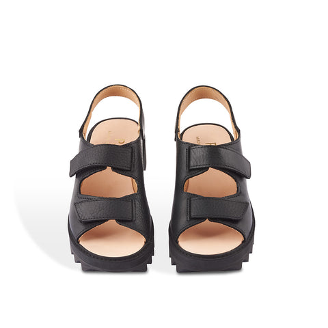 The Track Platform Ripple from Melbourne designer Post Sole Studio is summer option with both style and functionality. The calf leather upper features soft leather lining and the double velcro straps allow for an adjustable fit.