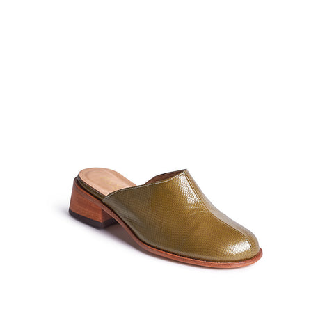 With a shapely wedge heel and supple leather upper, this made-in-Melbourne mule is a versatile option for year-round wear.