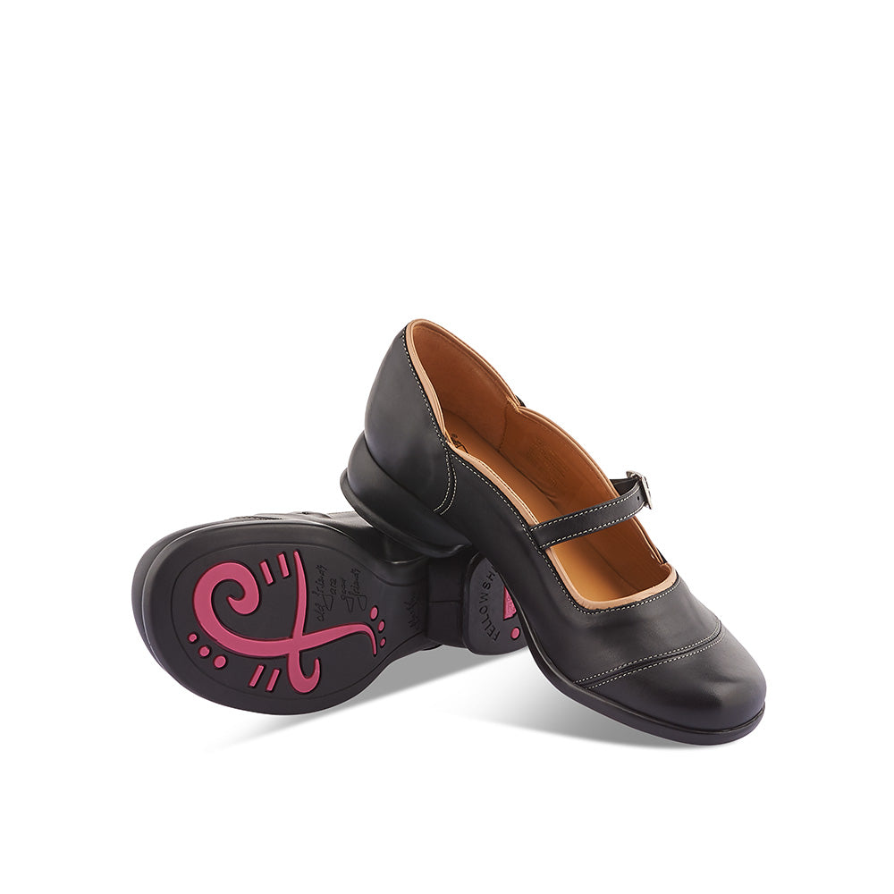 The cute and practical Sandra by John Fluevog is a versatile staple with a fine ankle strap and low profile. Sandra's supple leather upper and lining, combined with the signature Fellowship sole, make her a durable and comfy option for the year-round wardrobe.