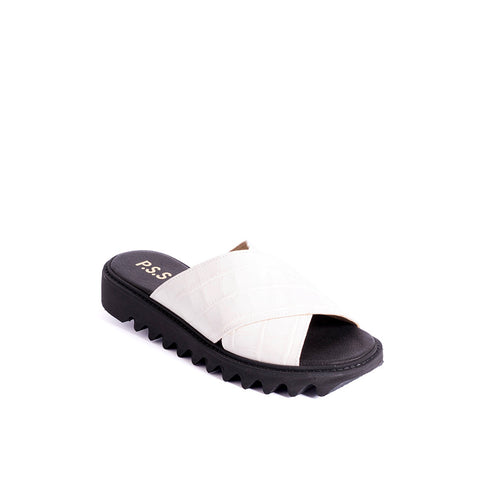 This summer slide from Post Sole Studio features a calf leather upper with soft leather lining and insole. The crossover panels embrace the foot for an easy fit and the ripple sole is super comfy underfoot.