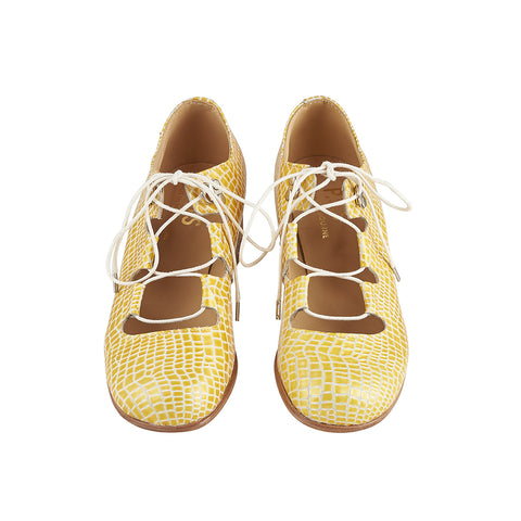 Dance Shoe yellow croc