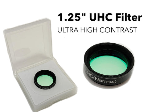 "1.25"" UHC Filter for telescope eyepiece - Cuts light pollution deep sky astronomy"