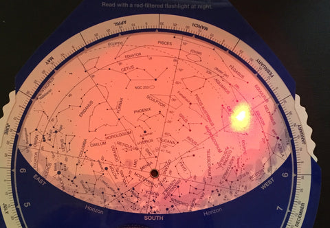 The Night Sky Planisphere & Dimmable Red Light Torch PACKAGE Southern Hemisphere