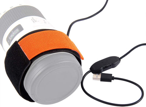 Dew Heater Band for Telescopes, eyepieces, camera lens - USB Powered