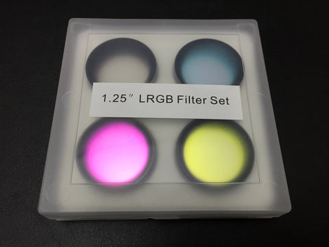 "1.25"" LRGB Filter set for telescope Deep Sky & Planetary Astronomy imaging"