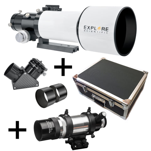 EXPLORE SCIENTIFIC ED80 ESSENTIAL SERIES AIR-SPACED TRIPLET REFRACTOR TELESCOPE