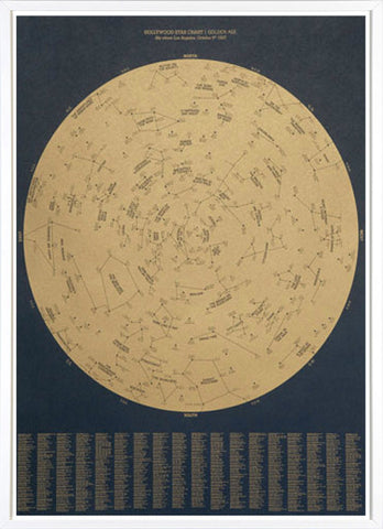 Hollywood Star Chart - Golden Age