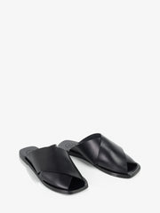ATP Atelier Alicia Black Vacchetta Leather Sandals