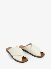 ATP Atelier Alicia Ice White Vacchetta Leather Sandals