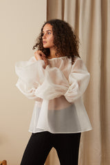 NZ Fashion Clothing Boutique gregorythelabel Gregory AW20 Made in NZ Ali Top Silk Organza DT10471