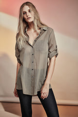 Boy Shirt Pale Khaki