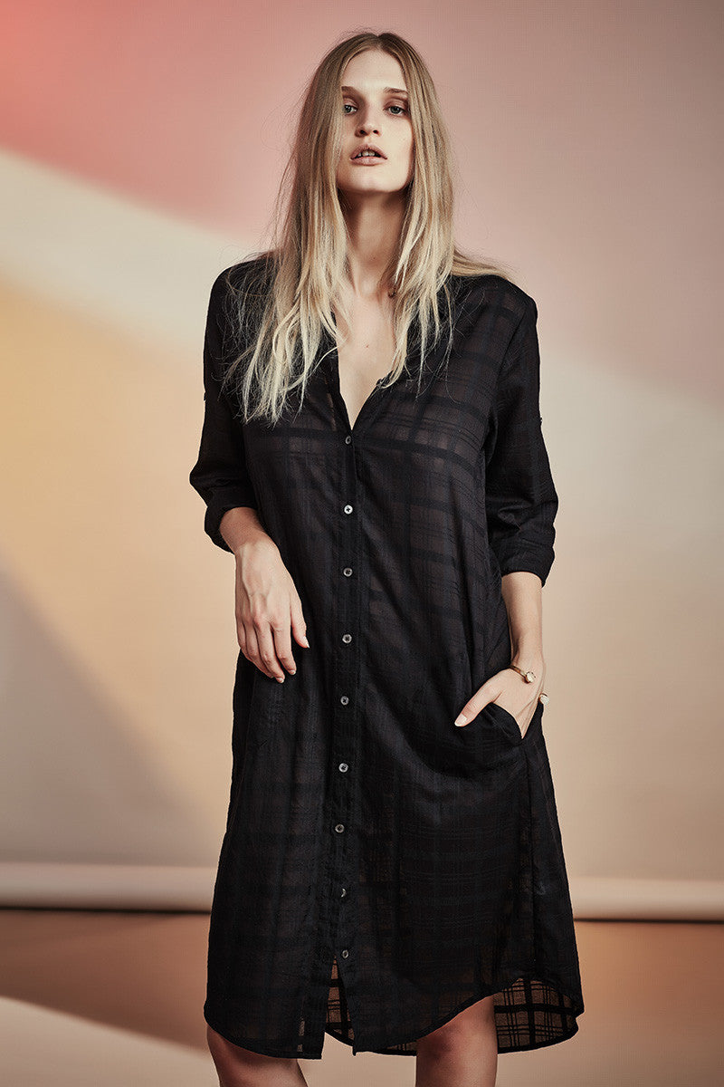 Boyfriend Shirt Dress NZ Fashion gregorythelabel SS16/17 Classic Japanese Cotton Shirt Dress Ethical Fashion Made in New Zealand