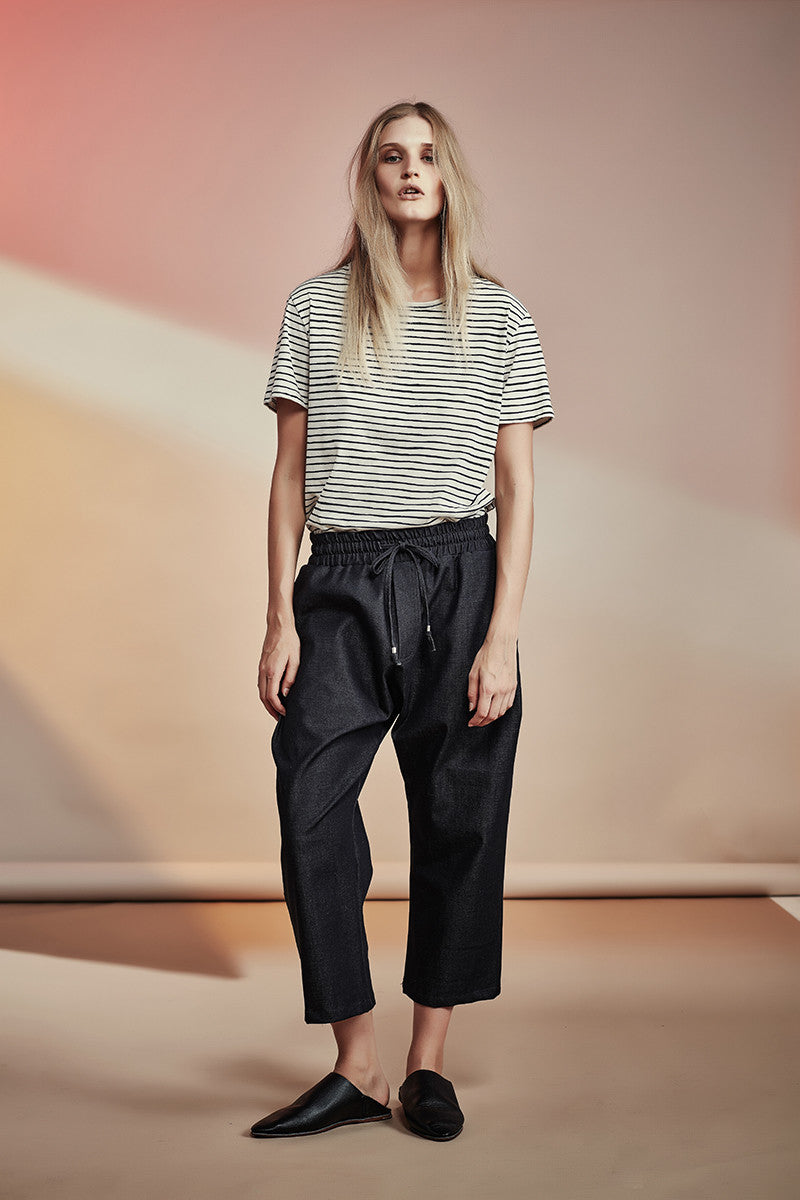 NZ Fashion gregorythelabel SS16/17 Classic Cotton Stripe T-Shirt Ethical Fashion Made in New Zealand
