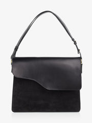 ATP Atelier Cortone Black Vachetta/Suede Shoulder Bag