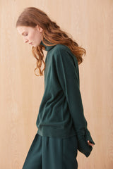 Filippa Cashmere Jumper Bottle Green