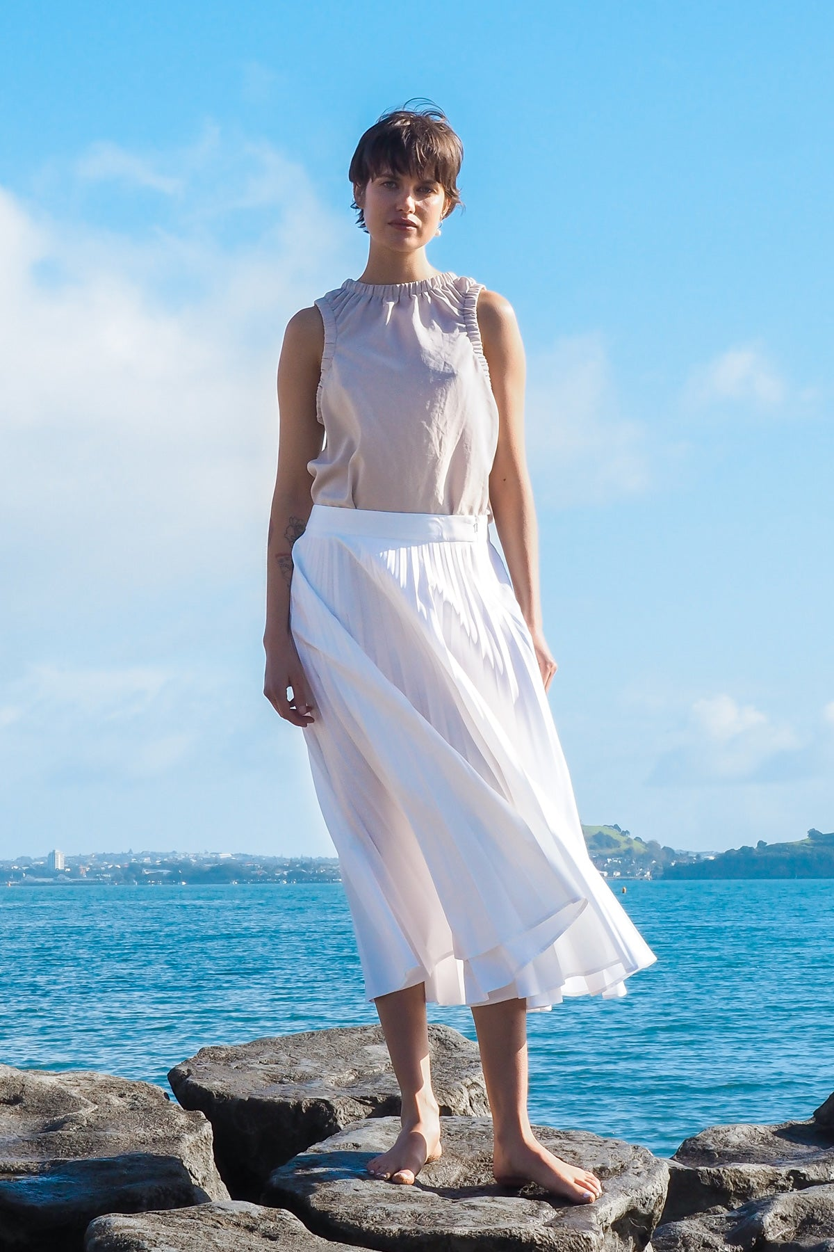 Gregory SS20 Crow Skirt Pleated Made in NZGregory SS20 Crow Skirt Pleated Made in NZ