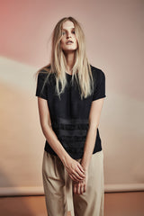 Gehry Top NZ Clothing Boutique Fashion gregorythelabel SS16/17 Fringing Top Applique Japanese Textiles
