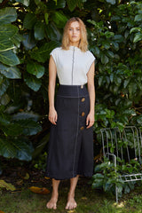 NZ Fashion Clothing Boutique gregorythelabel Gregory SS18  Emilia Skirt Made in NZ